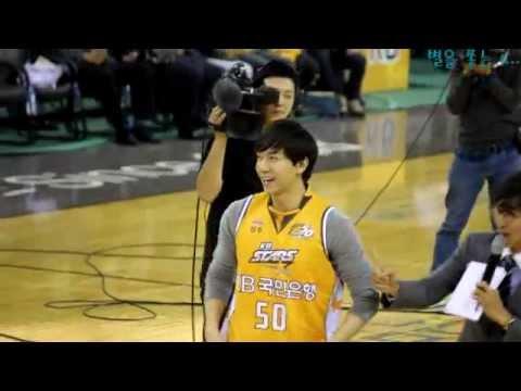 12.10.14 KB Stars Basketball Opener Fancam 2 - Lee Seung Gi