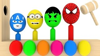 Learn Colors With Surprise Eggs Wooden Xylophone Hammer For Kids - Learn Colours For Kids