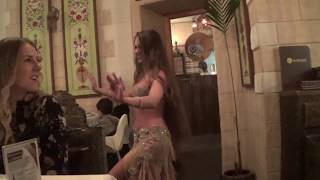 Belly Dance in Restaurant - Belly Dancer Isabella | HD