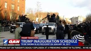 Trump Inauguration Schedule