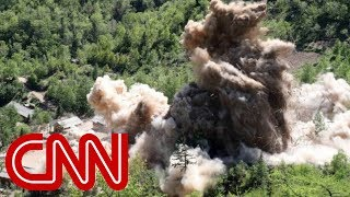 Video appears to show North Korea dismantling nuclear site