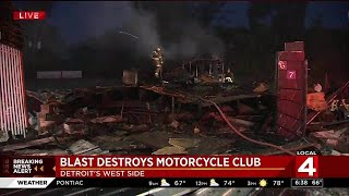 Gas leak likely caused Detroit motorcycle club explosion