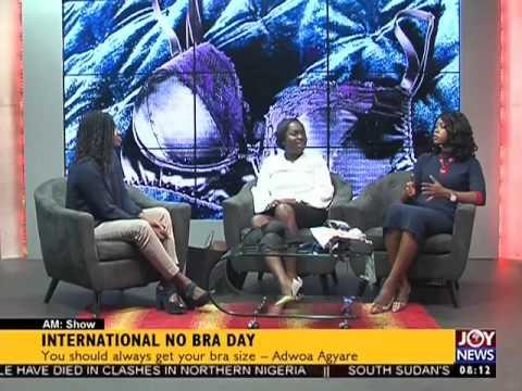 International no bra day - AM Show on Joy News (13-10-16)