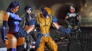 Wade Wilson 'Bitch Slaps' Unconscious Wolverine (Deadpool Game)