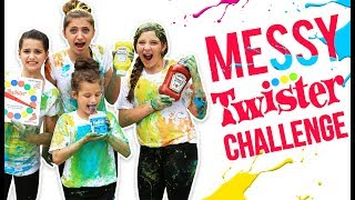 HILARIOUS MESSY TWISTER CHALLENGE! (ft. Annie LeBlanc & Hayley from Bratayley)
