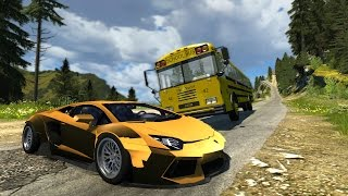 High Speed Side Impact Crashes #2 - BeamNG drive