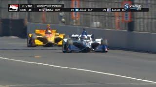 IndyCar Series 2018. Grand Prix of Portland. Last Laps