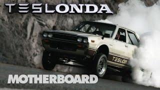 The Half Tesla, Half Honda, 100% Electric Hot Rod - The Teslonda