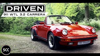 PORSCHE 911 WTL 3.2 CARRERA Convertible 1986 - Full test drive in top gear - Engine sound   SCC TV