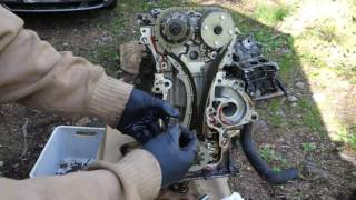 How ro replace timing chain Toyota Corolla VVT-i engine. Years 2000 to 2015