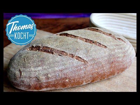 Brot selber backen | Weizenvollkornbrot Rezept | Bauernbrot