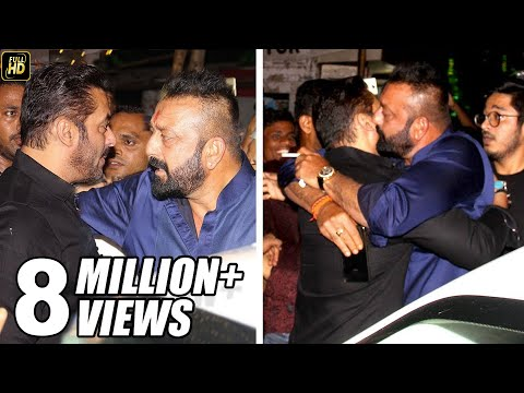Sanjay Dutt HUGS Salman Khan To End FIGHT At Ambani's House Ganpati 2017 Celebrations