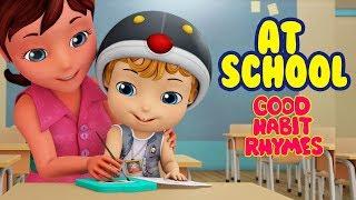 Going to School Rhymes for Kids | Good Habit Songs for Children | Infobells