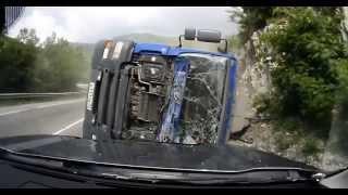 Wypadek ciężarówki / Truck Accident / Russian trucker