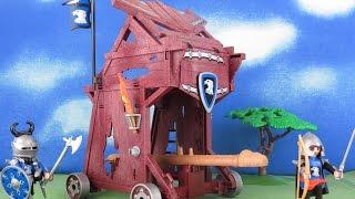 Playmobil Ritter Film deutsch: Ritter Angriffsturm Ritterburg Knights deutsch Ritter Angriffsturm