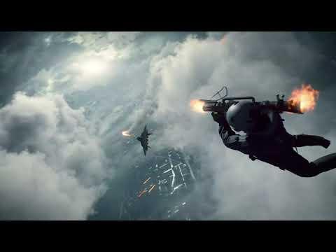 Battlefield 2042 RPG jet scene but with battlefield 4 theme
