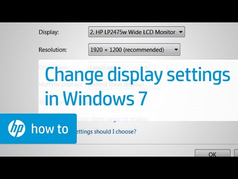 Changing the Display Settings in Windows 7