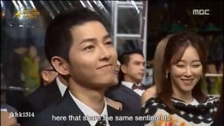 161002 Song Joong Ki Song Hye Kyo Best Couple Award cut 송중기 송혜교 宋仲基 宋慧乔