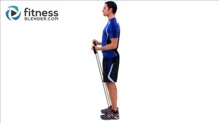 Bicep & Tricep Super Set Workout - Resistance Band Exercises