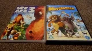 Ice Age 3 Dawn Of The Dinosaurs And Madagascar (UK) DVD Unboxing