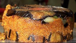 مقلوبة باذنجان بهبرة وكفته/مقلوبة الباذنجان - المطبخ العراقي Eggplant Maqlooba
