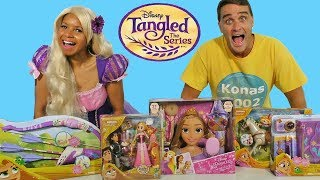 Tangled the Series Toy Challenge with Rapunzel !  || Toy Review || Konas2002