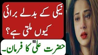 Har Neki K BadLe Burai Hi Kio MiLti Ha Hazrat Ali Ka Amazing Farman Hazrat Ali Ki Batein And History
