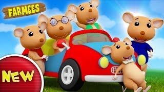 Five Little Naughty Rats Jumping On The Bed | Nursery Rhymes | Kids Song by Farmees S02E138