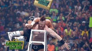 WWE Network: Sheamus and Dolph Ziggler battle atop the ladder: Money in the Bank 2015