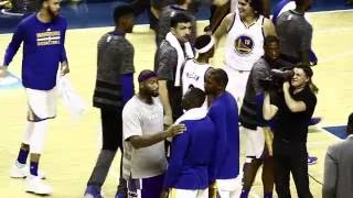 DeMarcus Cousins and the Warriors reconciled after heated exchange during the game.