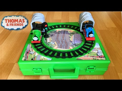 Rare Thomas and Friends Toy Trains Play Set with Motorized Percy