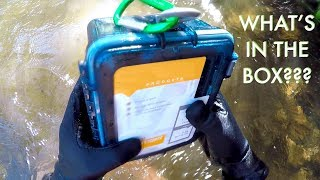 I Found a FULL Sealed Box Underwater in the River! (Contents Returned to Owners - Best Reaction!!)