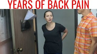 Part 1 - 25 year old Police Officer 👮♀️ TRANSFERRED because of LOW BACK PAIN. Chiropractic WORKs!