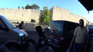 The Flower Gate (Herod's Gate) and Sultan Suleiman Street, Jerusalem