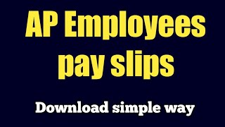 How to download Ap employees pay slips in Telugu