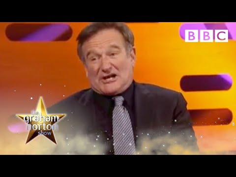 Robin Williams reacts to fans impressions The Graham Norton Show BBC