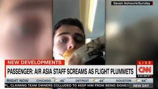 Air Asia Flight staff screaming displaying panic as cabin lost pressure and flight plummets