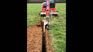 FNR Plant Hire Chain Trencher Digga T900