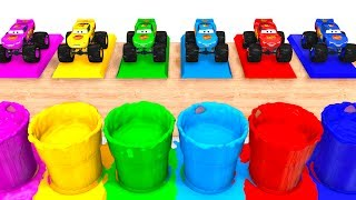 LEARN COLORS with BIG MCQUEEN for Kids - 3D Cars Educational Video - Bus Superheroes for Babies