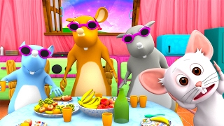 Three Blind Mice | Kindergarten Nursery Rhymes & Songs for Kids | Little Treehouse S03E24
