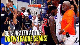 HEATED Drew League Semi-Finals!! Marvin Bagley Holds His Own vs Pros! Dorell Wright & JCraw Go OFF!