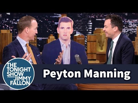 Peyton Manning Talks to Brother Eli s Super Bowl Sad Face