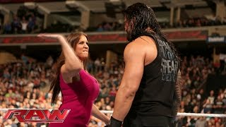 Stephanie McMahon is furious with Roman Reigns: Raw, December 14, 2015
