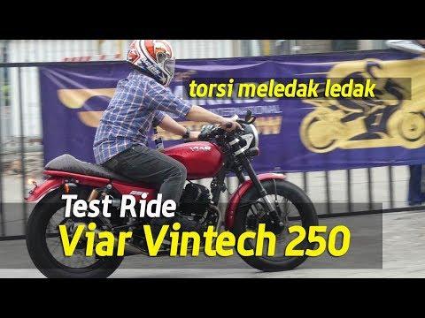 VLOG : Test Ride Viar Vintech 250  . . . Torsi Meledak ledak !