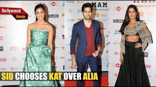 Sidharth Ignores Alia For Katrina!