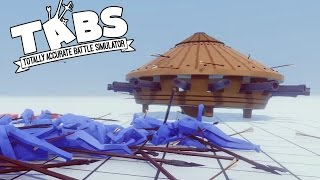 TABS - New Units! UFO? Renaissance Tank, Macemen, and More! - Totally Accurate Battle Simulator