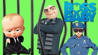 Dreamworks Boss Baby recruits Despicable Me 3 Gru to steal Puppy Co Files! Silly Funny Kids Video