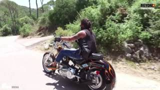 فادي اندراوس يقود دراجة نارية - Beyond Starac Arabia Fadee Andrawos riding a motorcycle