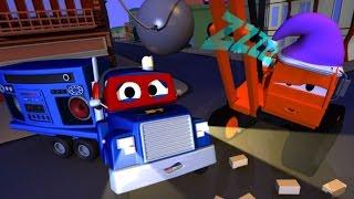 Carl the Super Truck and Sleeping Dane in Car City   Trucks Cartoon for kids