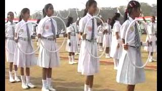 School Girls Boys PT Exercise Performance on 26th January Republic Day Ceremoney SECL Bilaspur